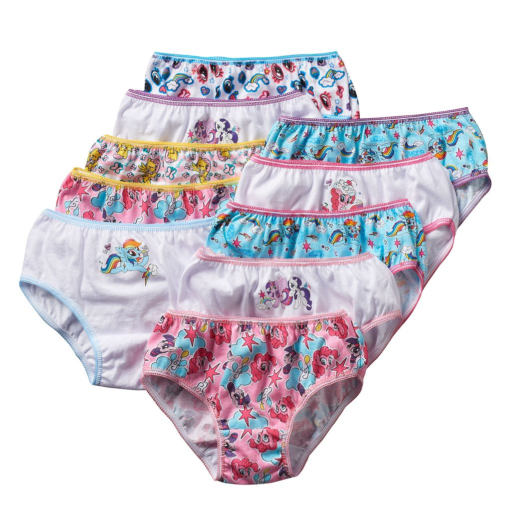 Girls 4-8 10-pk. My Little Pony Briefs