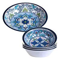 Certified International Talavera 5 pc Salad Serving Set