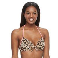 Women's S.O.S. Sun Ocean Sand Bra-Sized Underwire Halter Bikini Top