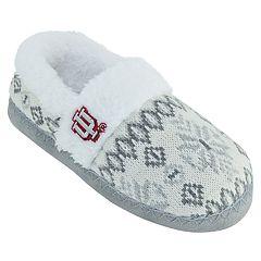 Women's Indiana Hoosiers Snowflake Slippers