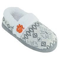 Women's Clemson Tigers Snowflake Slippers