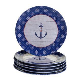 Certified International Nautique 6-pc. Dinner Plate Set