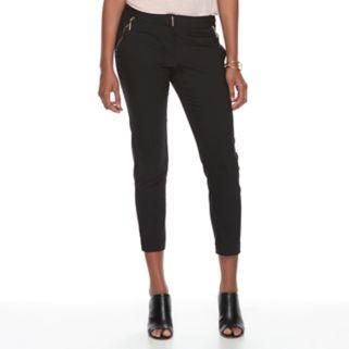 Women's Apt. 9® Torie Zipper Accent Crop Dress Pants