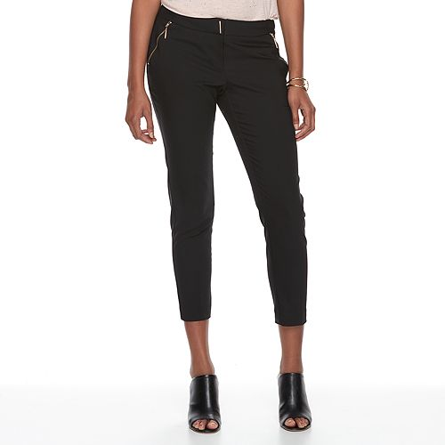 Women's Apt. 9® Torie Zipper Accent Crop Dress Pants