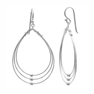 PRIMROSE Sterling Silver Triple Teardrop Earrings