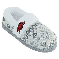 Women's Arkansas Razorbacks Snowflake Slippers