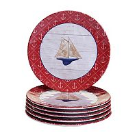 Certified International Nautique 6-pc. Salad Plate Set