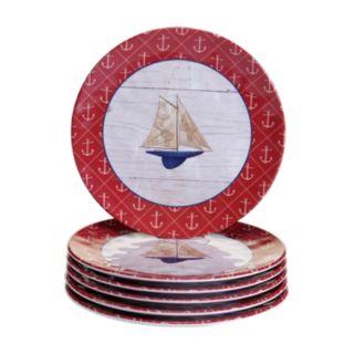 Certified International Nautique 6-pc. Salad Plate Set