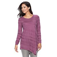 Women's Apt. 9® Textured Striped Tunic