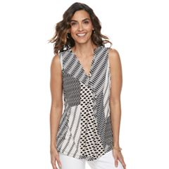 Women's Dana Buchman Pleated V-Neck Tank