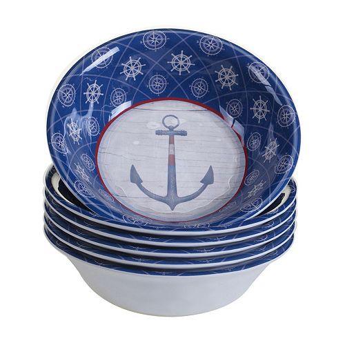 Certified International Nautique 6-pc. All-Purpose Bowl Set
