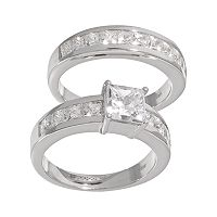 DiamonLuxe Sterling Silver 3.29-ct. T.W. Simulated Diamond Ring Set