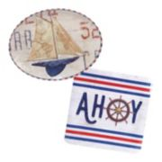 Certified International Nautique 2-pc. Platter Set