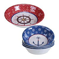 Certified International Nautique 5 pc Salad Serving Set