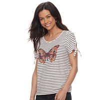 Petite SONOMA Goods for Life™ Striped Graphic Tee
