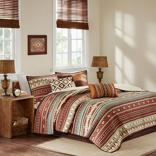 Madison Park 6 Piece Davy Quilted Coverlet Set