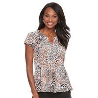 Women's Dana Buchman Printed Peplum Shirt