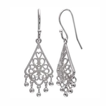 PRIMROSE Sterling Silver Filigree Chandelier Earrings