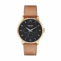 Armitron Men's Leather watch - 20/5217BKGPTN