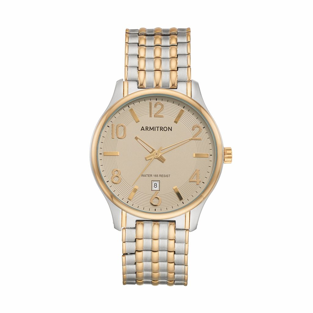 Armitron Men's Two Tone Expansion Watch - 20/5217BKGPTN
