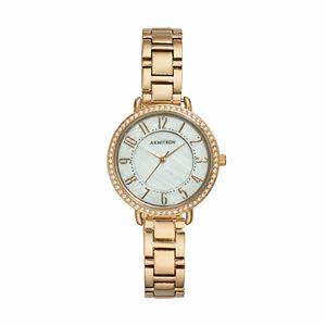 Armitron Women's Crystal Watch - 20/5217BKGPTN