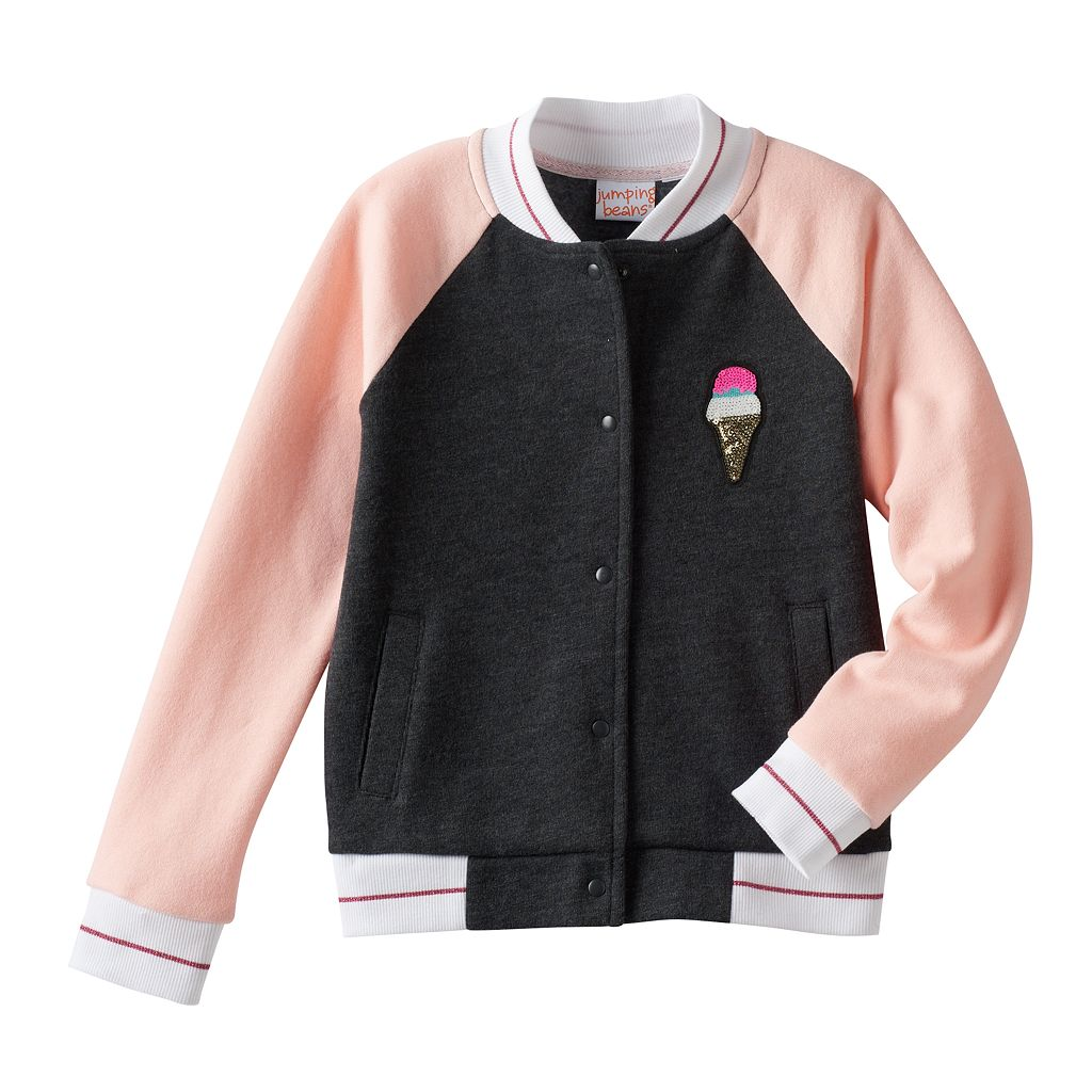 Girls 4-10 Jumping Beans® Colorblock Ice Cream Bomber Jacket