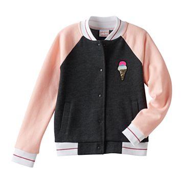 Girls 4-10 Jumping Beans® Colorblock Ice Cream Bomber Jacket