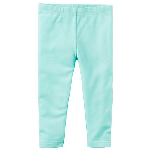 Girls 4-8 Carter's Solid Mint Leggings
