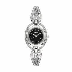 Armitron Women's Crystal Half Bangle Watch - 75/5473BKSV