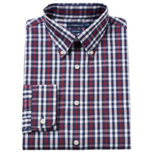 Big & Tall Croft & Barrow® Solid Easy-Care Button-Down Collar Dress Shirt