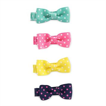 Baby Girl Carter's 4-pk. Dotted Bow Clip Set