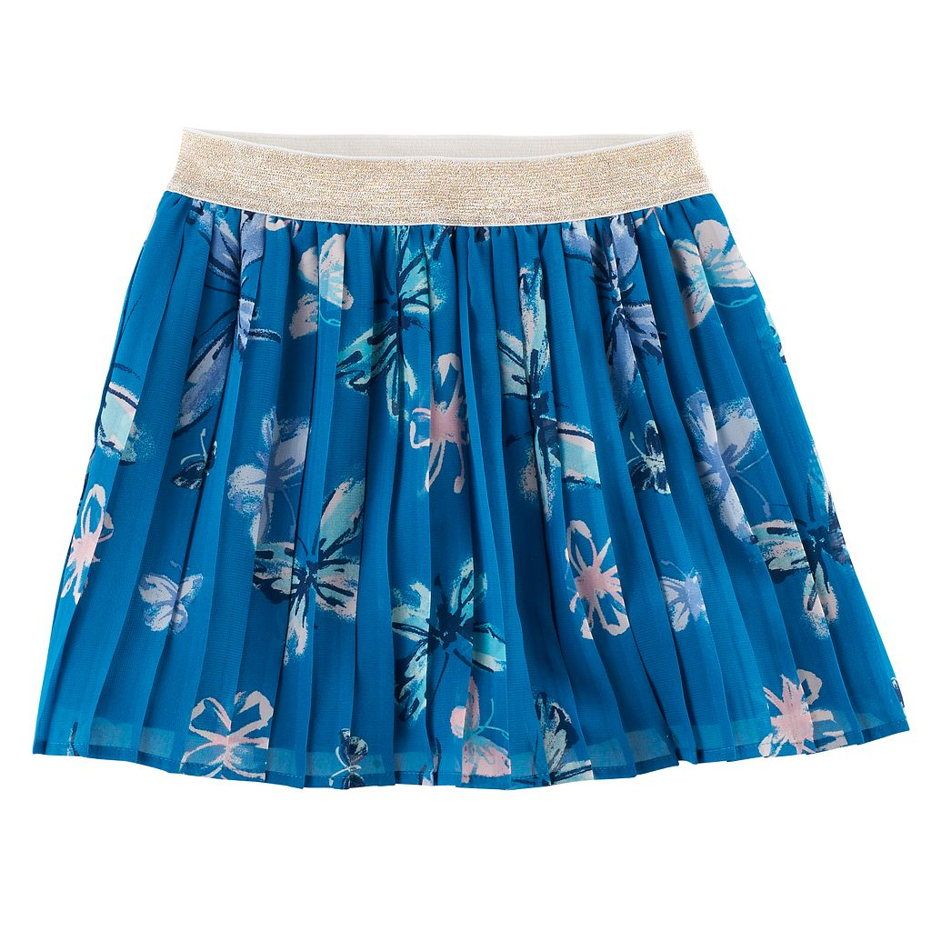 Girls 4-12 SONOMA Goods for Life™ Printed Woven Pleated Skort