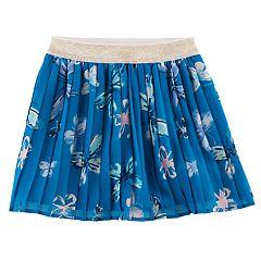Girls 4-12 SONOMA Goods for Life™ Printed Woven Pleated Skort