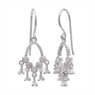 PRIMROSE Sterling Silver Cubic Zirconia Chandelier Earrings