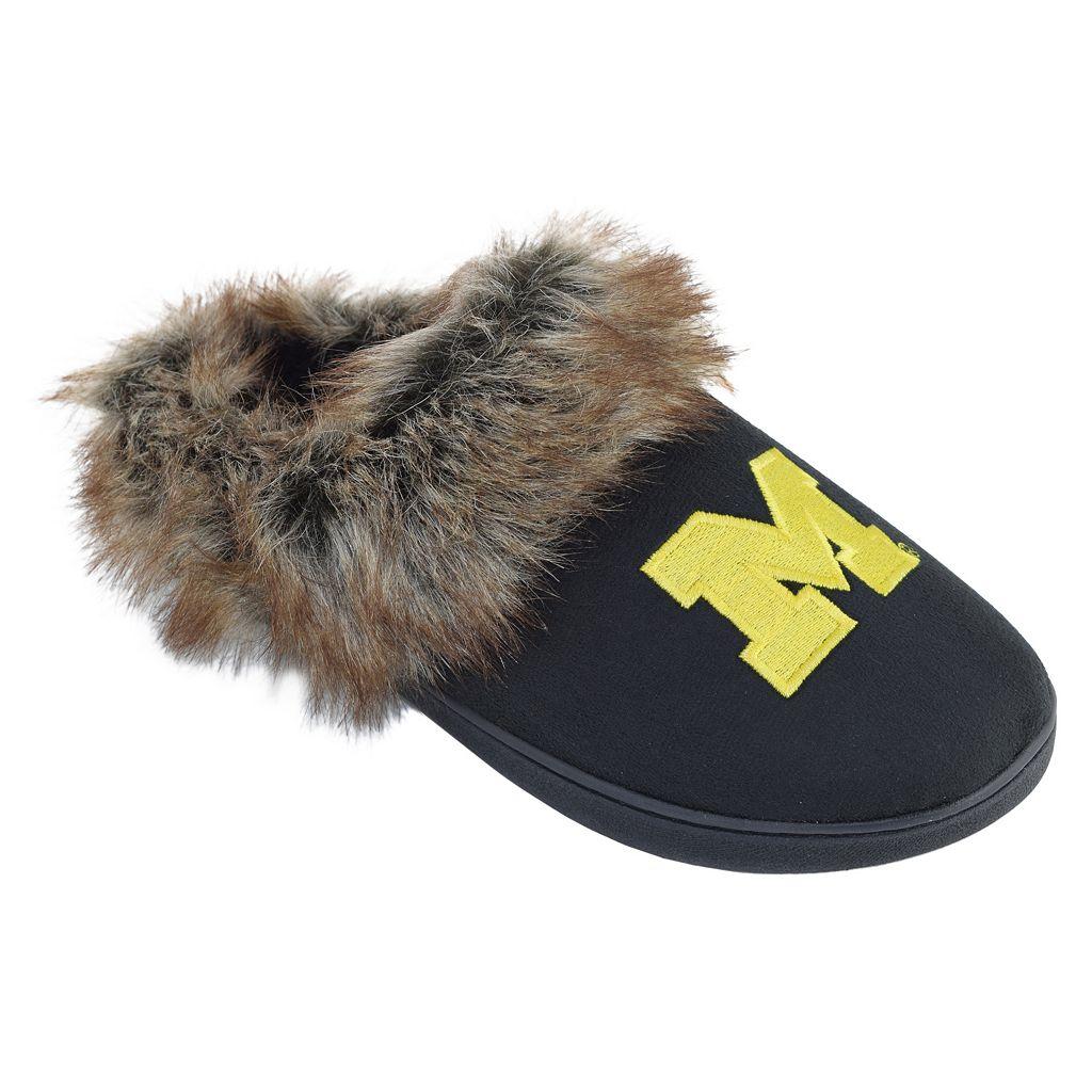 Women's Michigan Wolverines Scuff Slippers