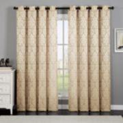 VCNY 1-Panel Calibra Jacquard Window Curtain