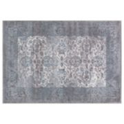 Concord Global Thema Vintage Framed Floral Rug