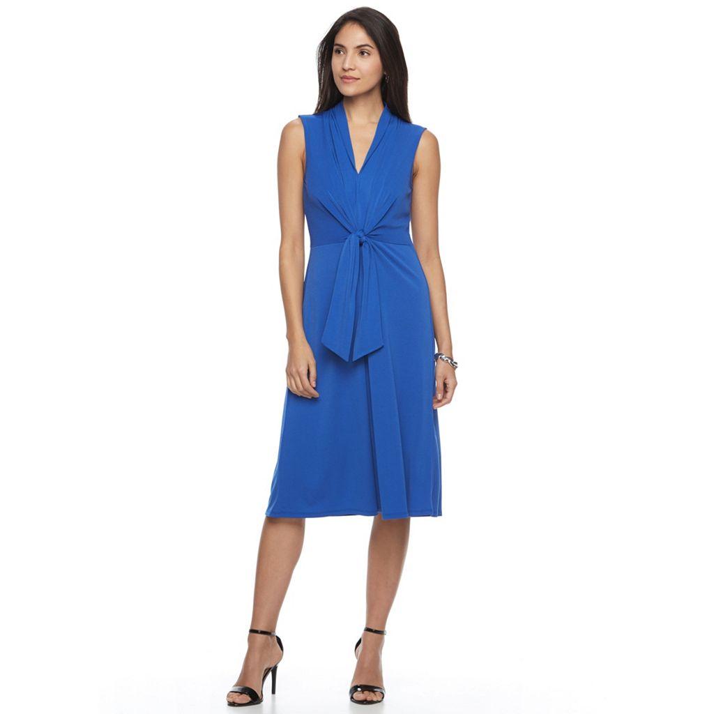 Women's Dana Buchman Crepe Fit & Flare Dress
