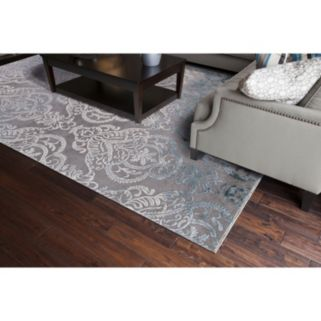 Concord Global Thema Lancing Damask Rug