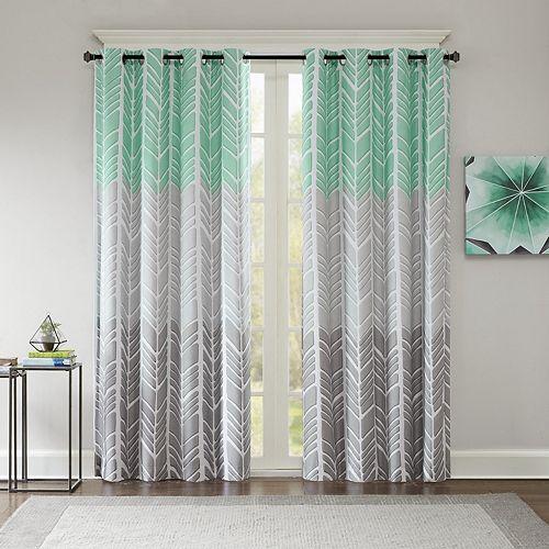 Intelligent Design Blackout 1-Panel Kennedy Window Curtain