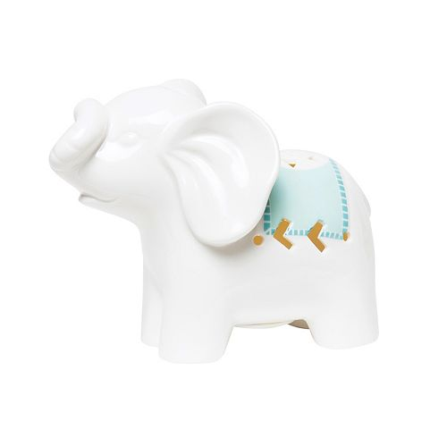 C.R. Gibson Porcelain Elephant Night Light