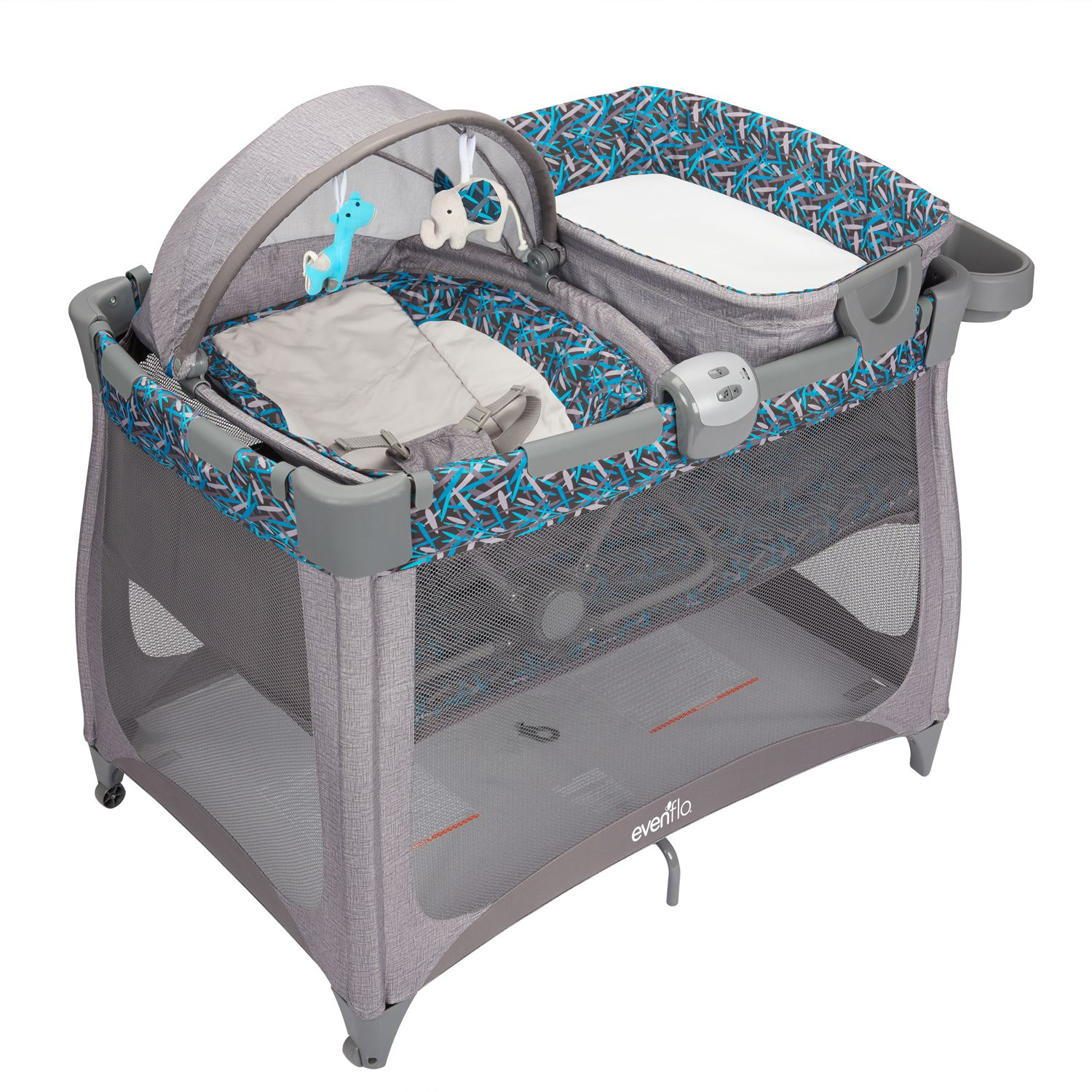 Evenflo Arena 4 In 1 Portable Bouncer U0026 Bassinet Playard