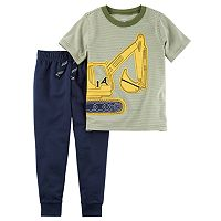Toddler Boy Carter's Construction Short Sleeve Tee & Jogger Pants Set