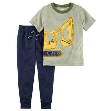 Toddler Boy Carter's Construction Short Sleeve Tee & Jogger Pants Set