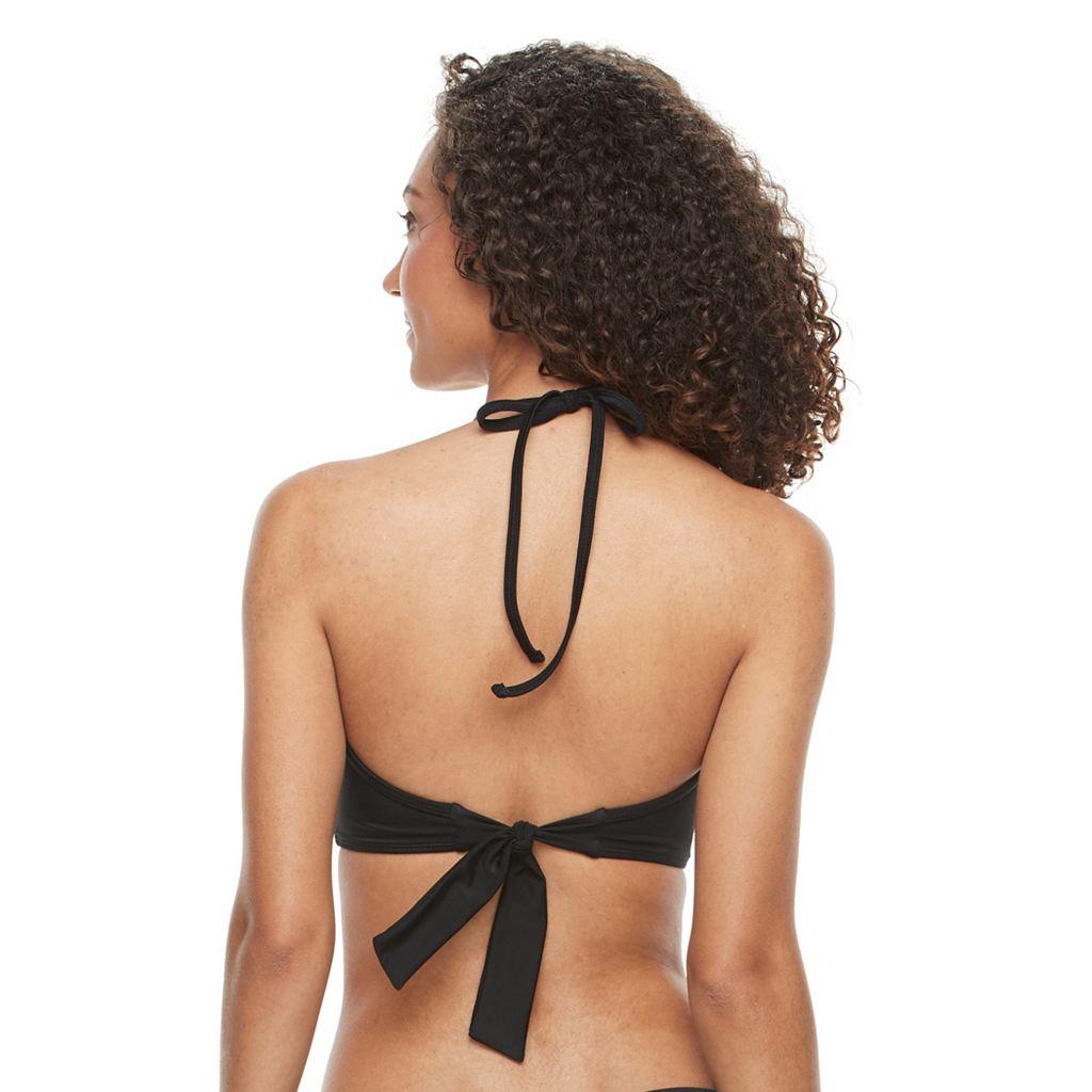 Women's S.O.S. Sun Ocean Sand Wrap Bra-Sized Halter Bikini Top