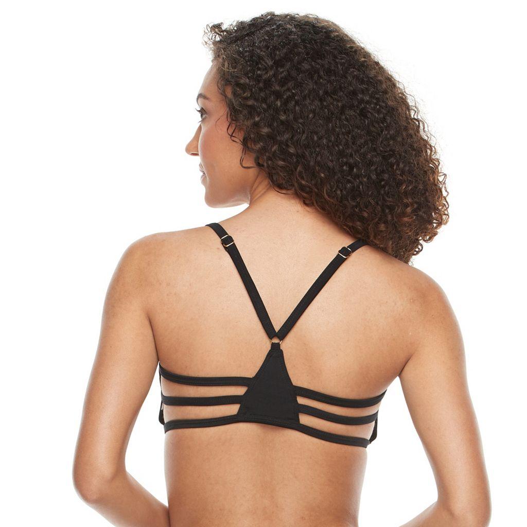 Women's S.O.S. Sun Ocean Sand Strappy Bra-Sized Bikini Top
