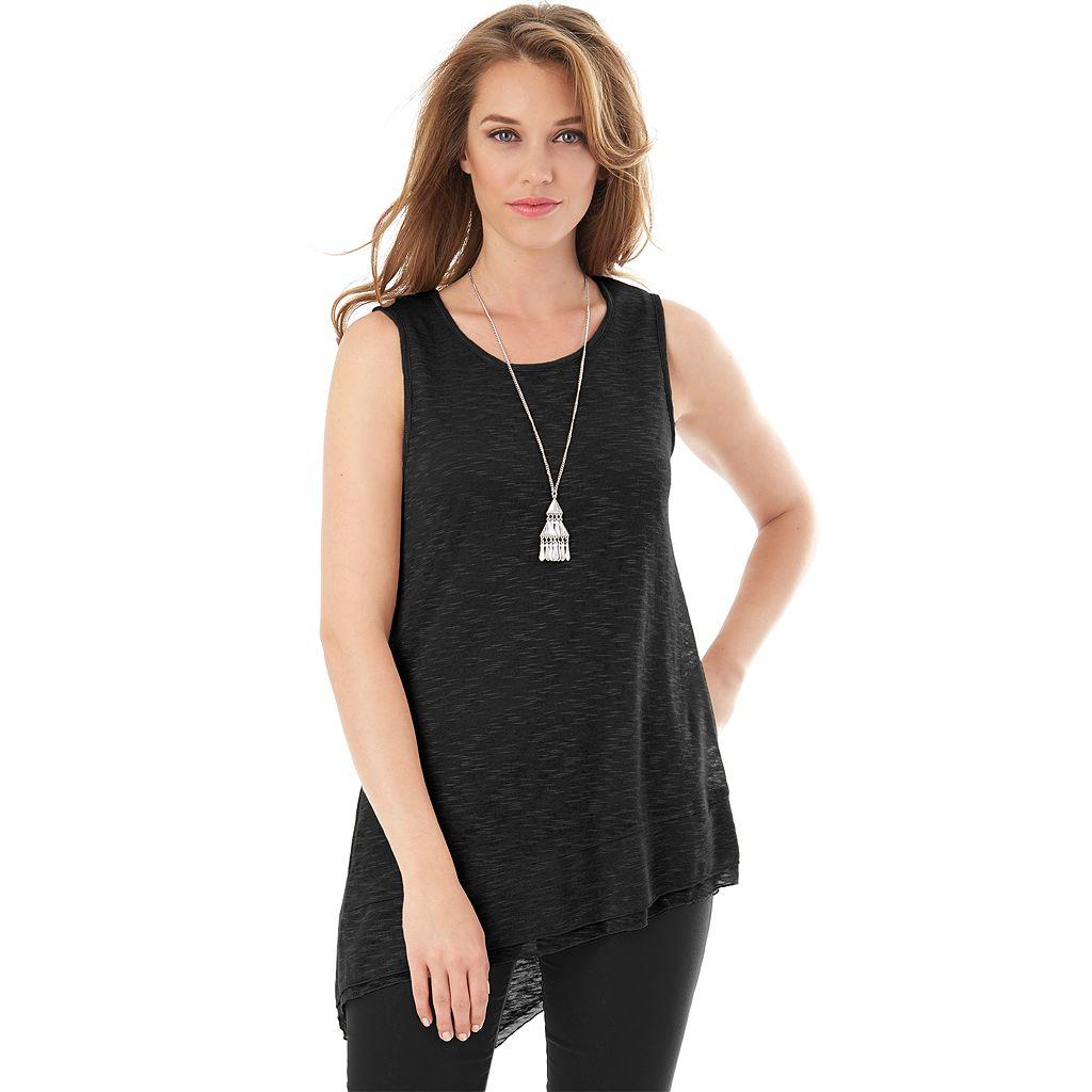 Women's AB Studio Asymmetrical Hem Necklace Tank