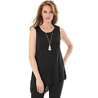 Women's AB Studio Asymmetrical Hem Necklace Tank