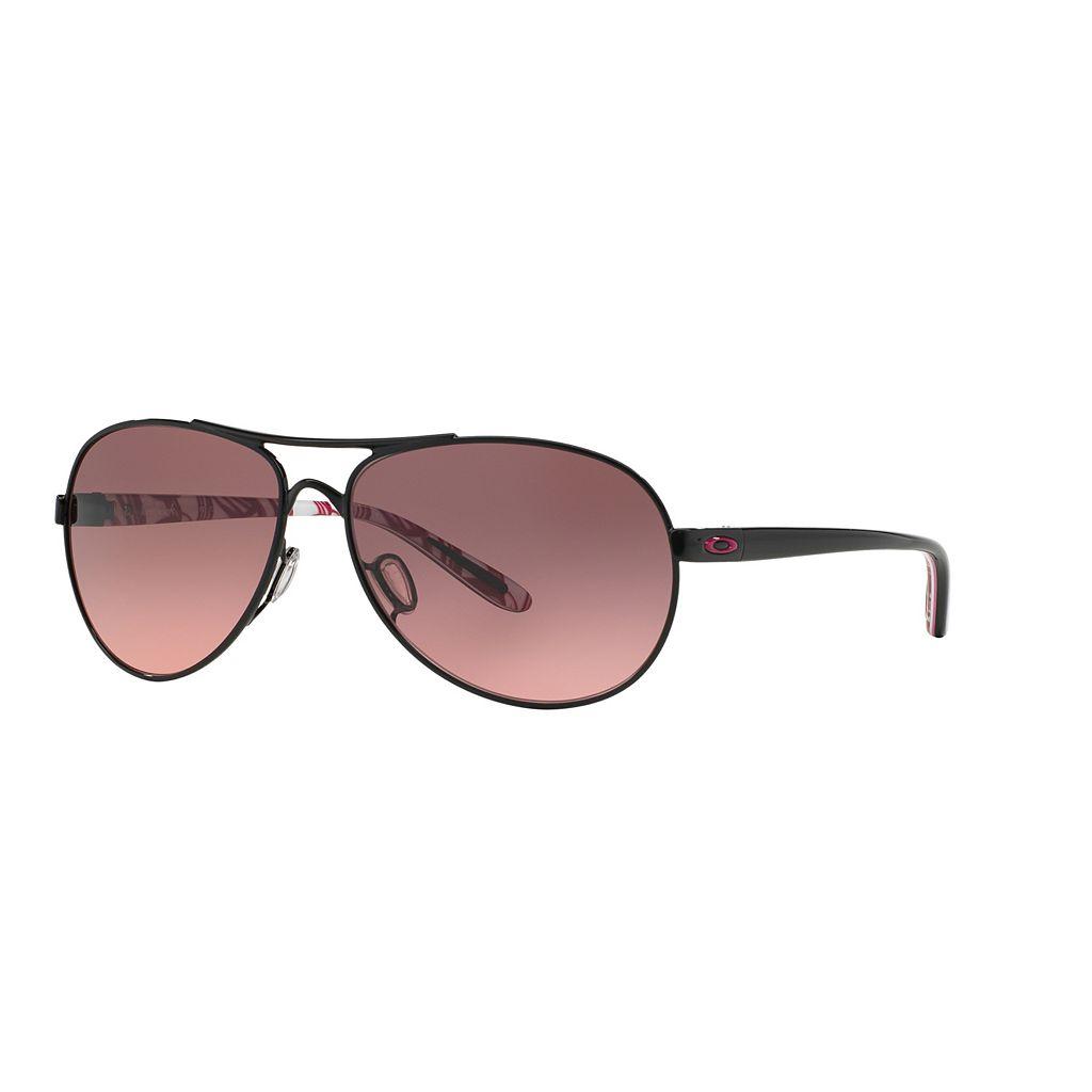 Oakley Feedback OO4079 59mm YSC Breast Cancer Awareness Aviator Gradient Sunglasses