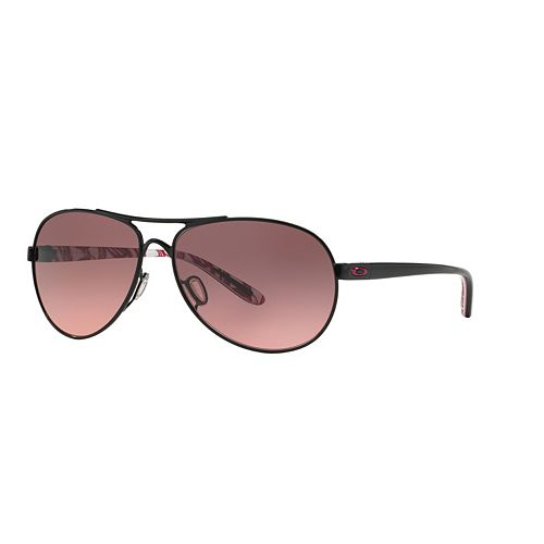 0e5aaebfe22 Oakley Feedback OO4079 59mm YSC Breast Cancer Awareness Aviator Gradient  Sunglasses